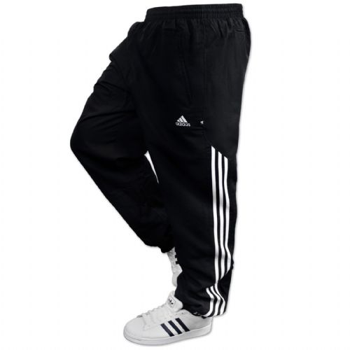 Adidas AD Woven Sting mens Jogging Pant Tracksuit Bottoms Track Pants Cuffed Black